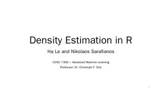 Density Estimation in R