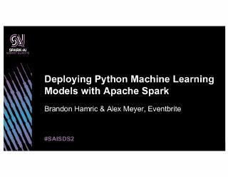 deploying python machine learning models