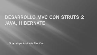 Desarrollo MVC con Struts 2 java. Hibernate -...