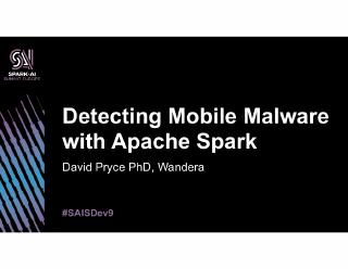 detecting mobile malware with apache spark