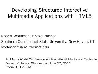 Developing Structured Interactive Multimedia ...