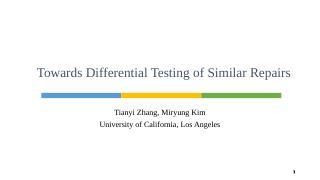 Differential Testing Test - UCLA CS