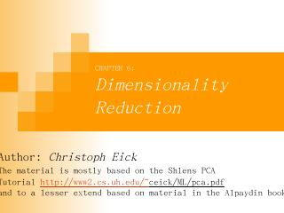 Dimensionality Reduction Centering on PCA