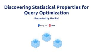 discovering statistical properties for query ...