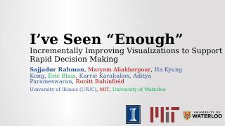 Incvisage:逐步改进可视化以支持快速决策
