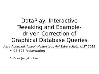 dataplay:图形数据库查询的交互式调...