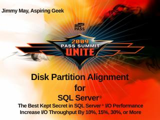 Disk Partition Alignment for SQL Server