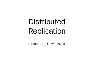 Distribted Replication