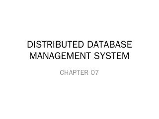 distributed database management system - azha...