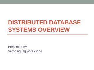 Distributed Database Systems Overview - Blog UB