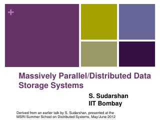 Distributed Databases - CSE, IIT Bombay