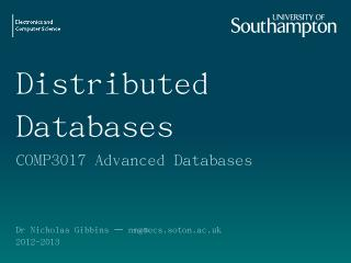 Distributed Databases - EdShare