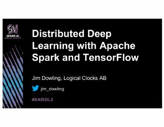 distributed deep learning with apache spark a...
