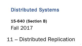 Distributed Systems 15-440 / 15-640 - Descrip...