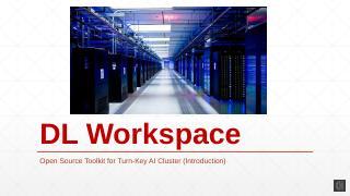 DL Workspace - Microsoft Open Source