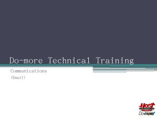 do more training communication email