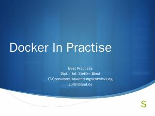 Docker best practise