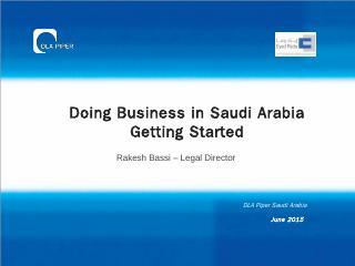 Doing Business in Saudi Arabia Getting Starte...