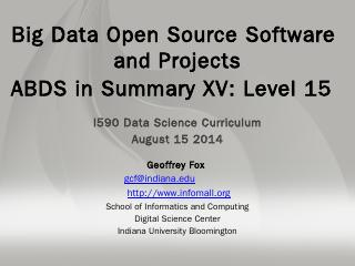 Drill - Big Data & Open Source Software Proje...