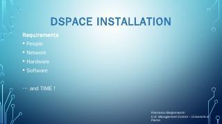 DSpace Installation
