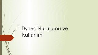 Dyned Kurulumu ve Kullanm - video.eba.gov.tr