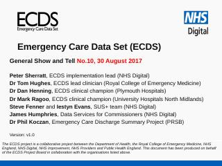 ECDS - NHS Digital