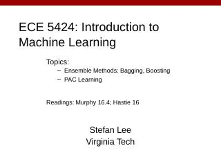 ECE 5984: Introduction to Machine Learning - ...