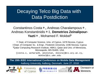Efficient Exploration of Telco Big Data with ...