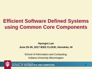 Efficient Software Defined Systems using Comm...