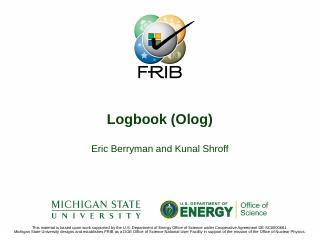 Electronic Logbook - EPICS