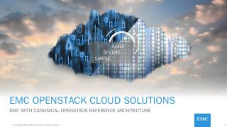 EMC OpenStack Cloud Solutions