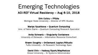 Emerging Technologies - OSCER
