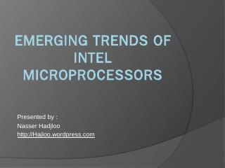 emerging trends of intel microprocessors - El...