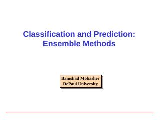 Ensemble Methods - DePaul University