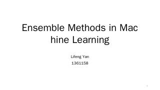 Ensemble Methods in Machine Learning