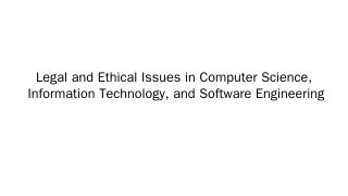 Ethics in Software Engineering - TAMU Compute...