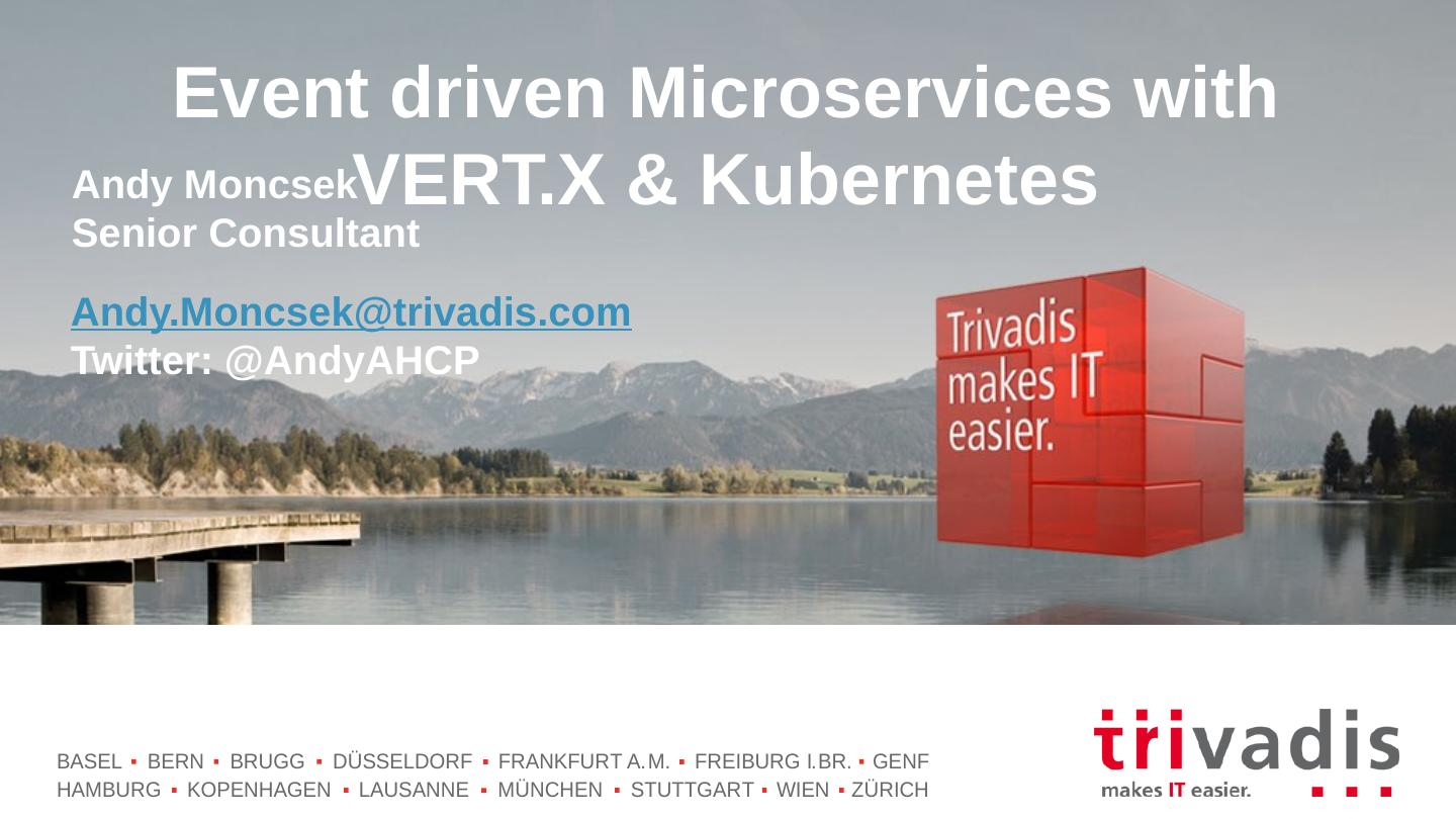 Event Driven Microservices with Vertx and Kubernetes