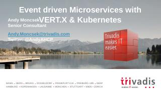 Event Driven Microservices with Vertx and Kub...