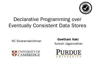 Eventual Consistency - Gowtham Kaki