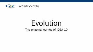 Evolution - AuditWare