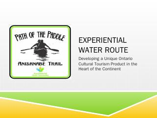 experiential water route - Ontario Trails Cou...