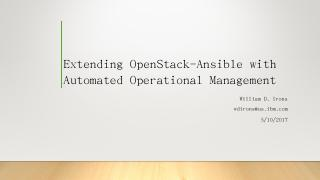 Extending OpenStack-Ansible with Automated Op...