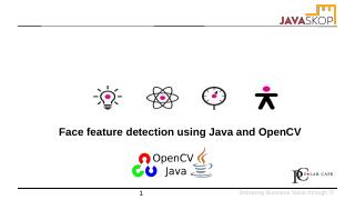 Face feature detection using Java and OpenCV ...