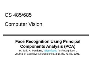Face Recognition Using Eigenfaces