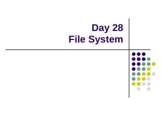 File System - Rose-Hulman