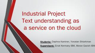 Final Presentation - CS, Technion