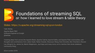 Streaming SQL 基础