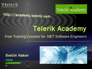 Fundamentals of C# Programming - Svetlin Nakov