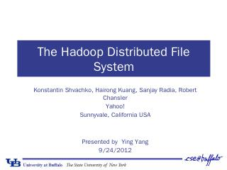 FUTURE WORK Introduction HDFS The Hadoop Dist...