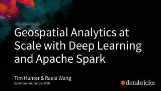 geospatial analytics at scale with deep learn...